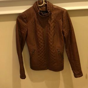 Guess Los Angeles vegan leather jacket size s
